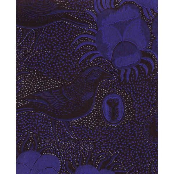 Pihlgren ja Ritola Carta da parati Kiurujen yö, blu cobalto