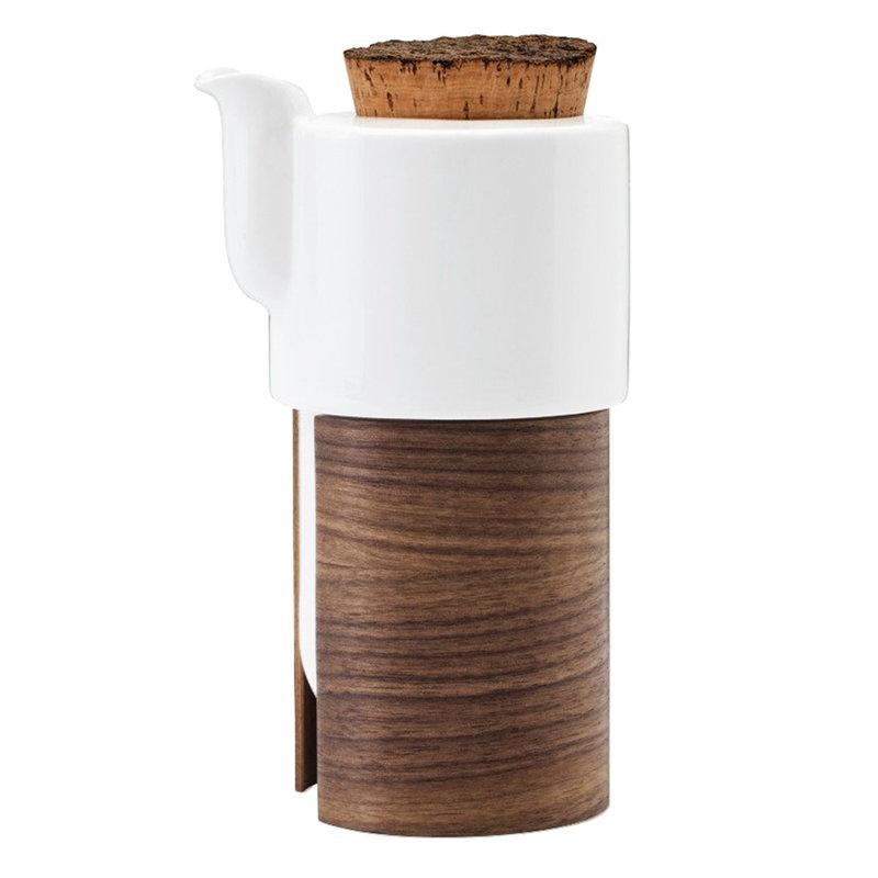 Tonfisk Design Warm teekannu 6 dl, pähkinäpuu, korkkikansi