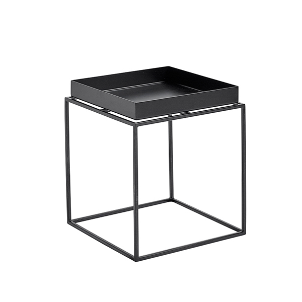 Hay Tray Table Small Square Black