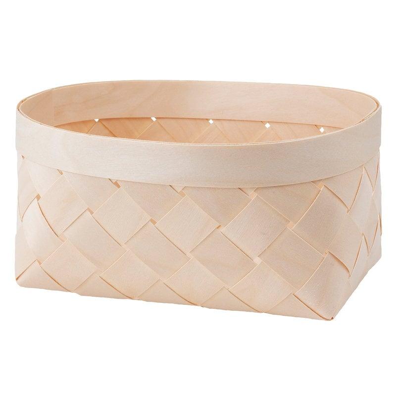 Verso Design Viilu birch basket, oval, S