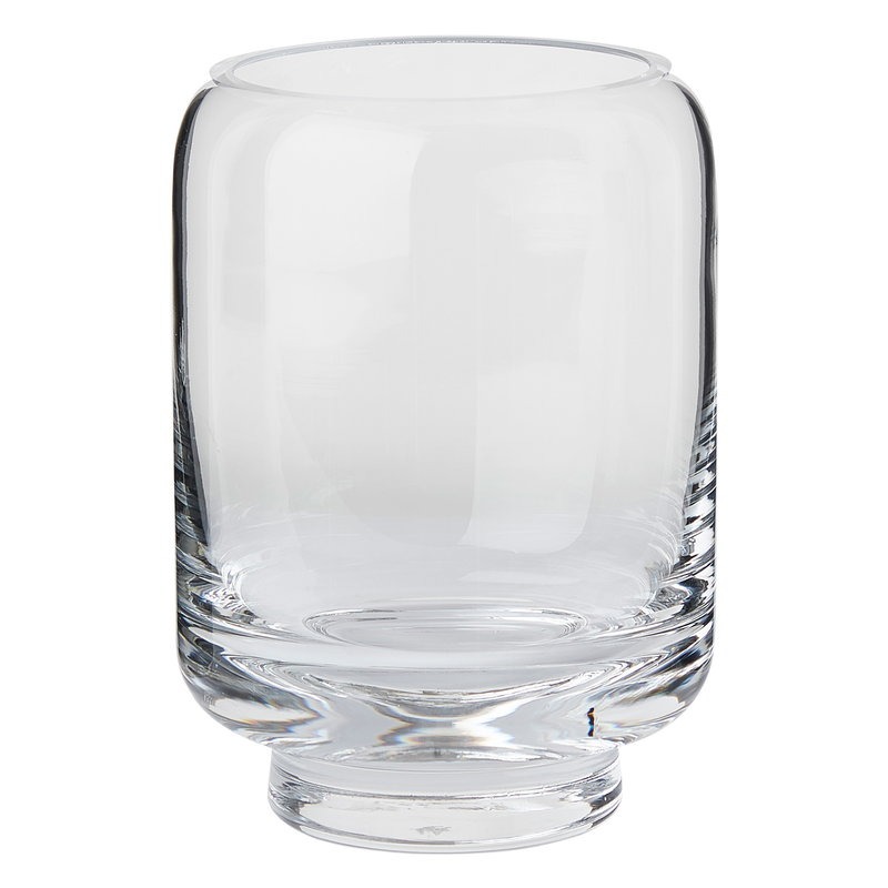 Warm Nordic Stack vase, clear