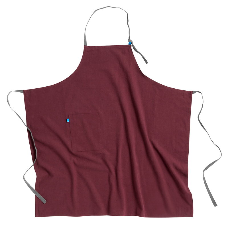 Hay Wrap apron, burgundy
