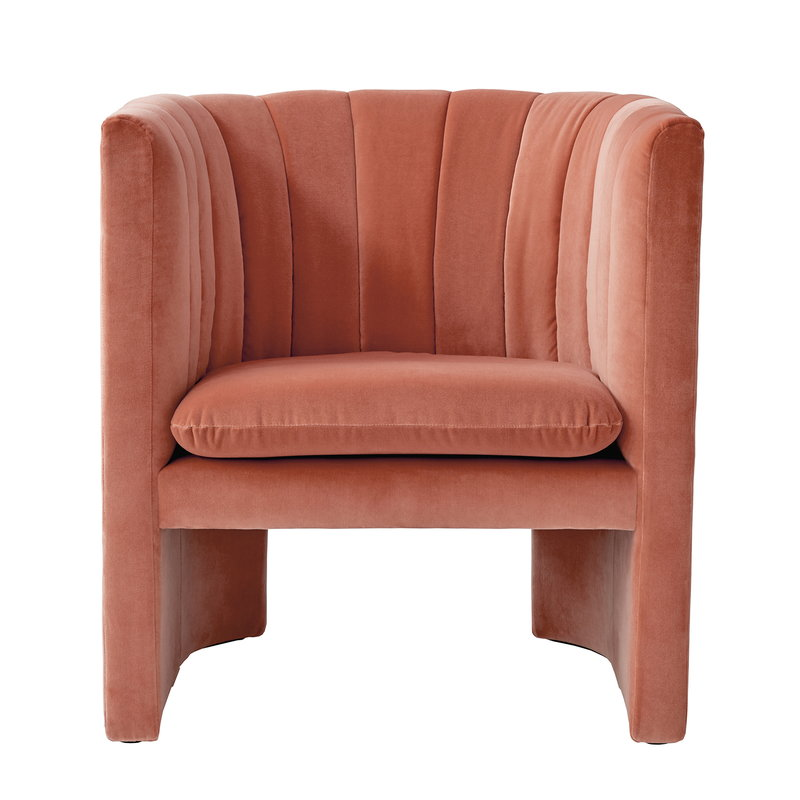 &Tradition Loafer SC23 lounge chair, Velvet 04 Clay