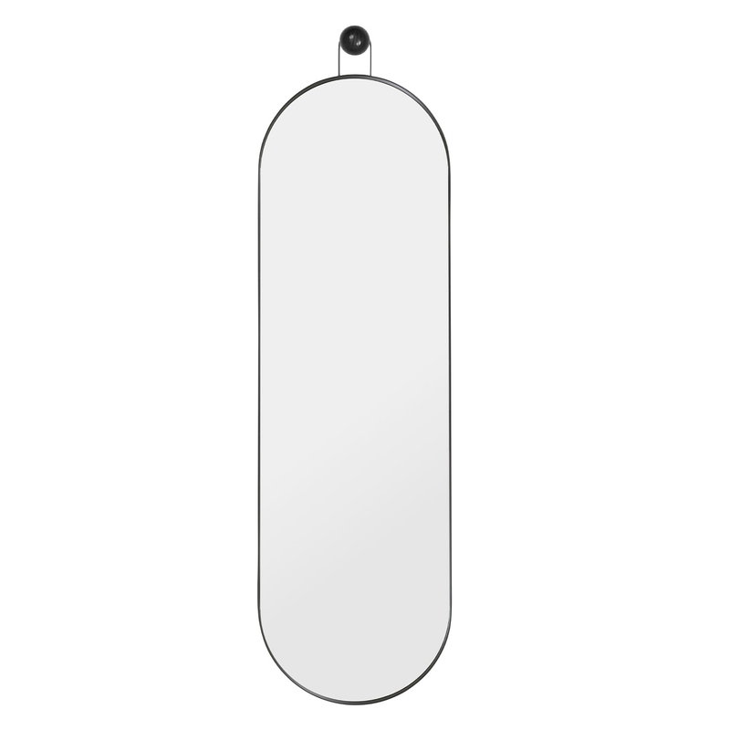 Ferm Living Poise mirror, oval, black