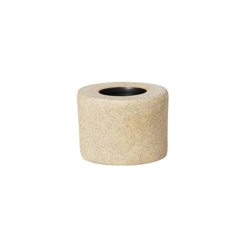 Ferm Living Bon Accessories hammasharjateline, hiekka - musta lasitus