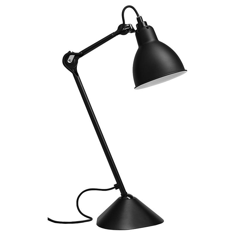 DCW éditions Lampada da tavolo Lampe Gras 205, paralume rotondo, nera