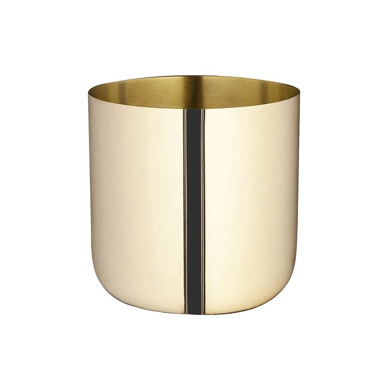 Skultuna Nurture planter, small, brass