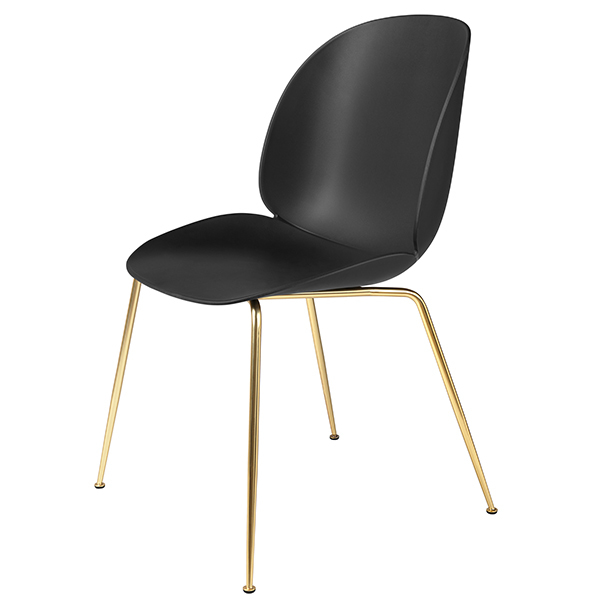 Gubi Beetle chair, brass - black
