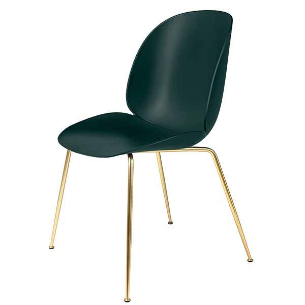 Gubi Beetle chair, brass - green