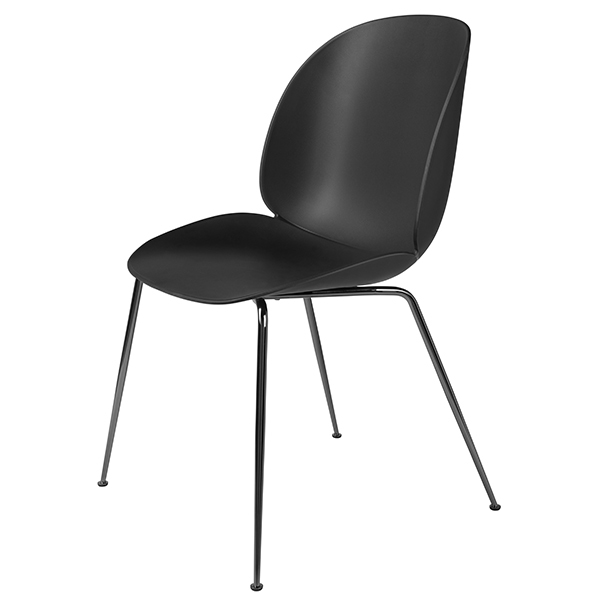 Gubi Beetle chair, black chrome - black