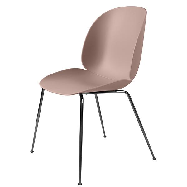Gubi Beetle chair, black chrome - sweet pink