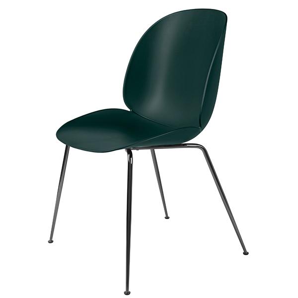 Gubi Beetle tuoli, musta kromi - vihreä