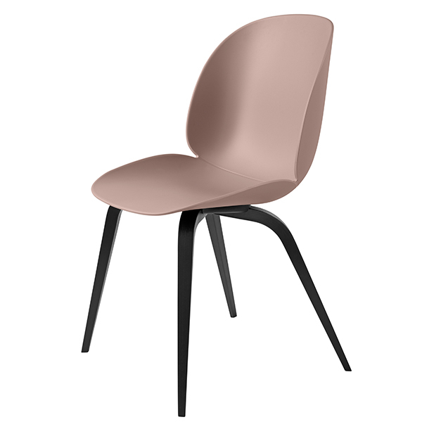 Gubi Beetle chair, black beech - sweet pink