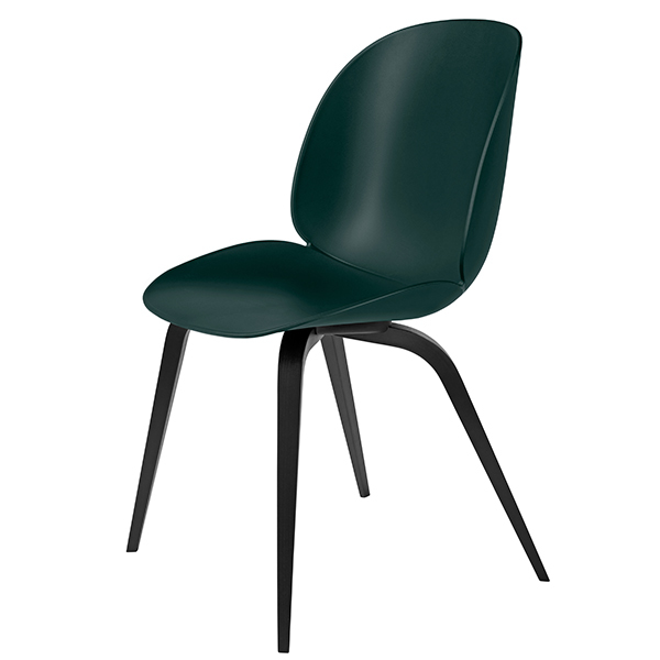 Gubi Beetle chair, black beech - green
