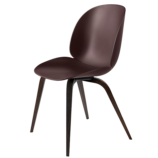 Gubi Beetle chair, smoked oak - dark pink