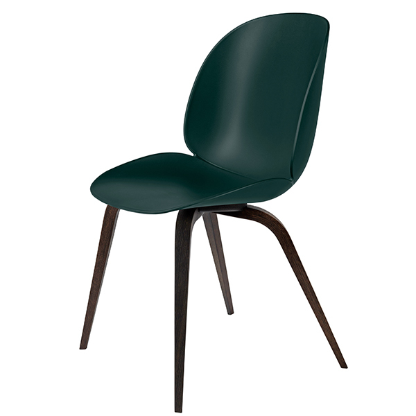 Gubi Beetle chair, smoked oak - green