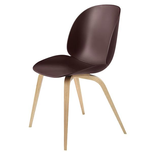 Gubi Beetle tuoli, tammi - dark pink