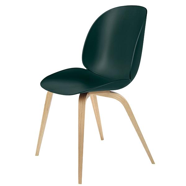 Gubi Beetle chair, oak - green