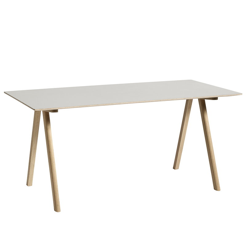 Hay CPH10 table 160x80 cm, matt lacquered oak - off white lino