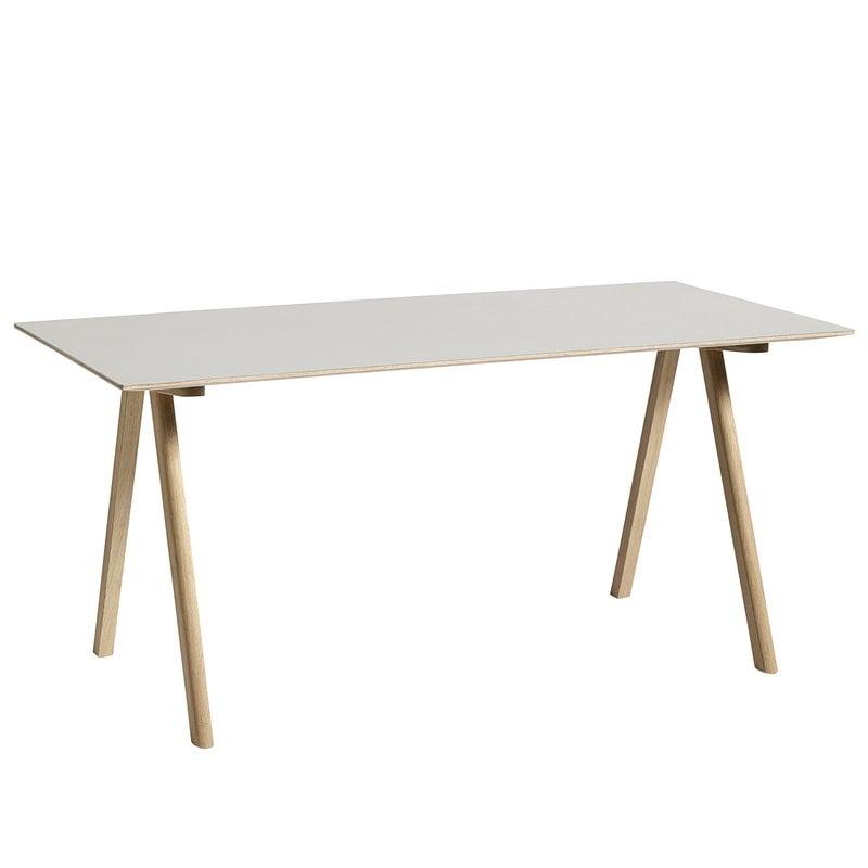 Hay CPH10 pöytä 160x80 cm, mattalakattu tammi - luonnonvalk. lino