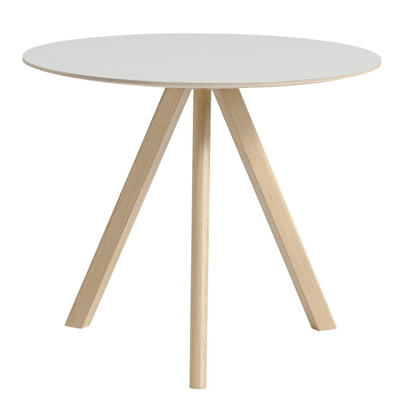 Hay CPH20 round table 90 cm, matt lacquered oak - off white lino