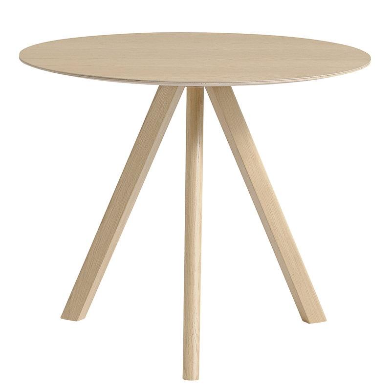 Hay CPH20 pyöreä pöytä 90 cm, mattalakattu tammi