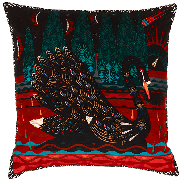 Klaus Haapaniemi Black Swan cushion cover, velvet