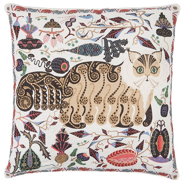 Klaus Haapaniemi Les Chats Norma cushion cover, linen