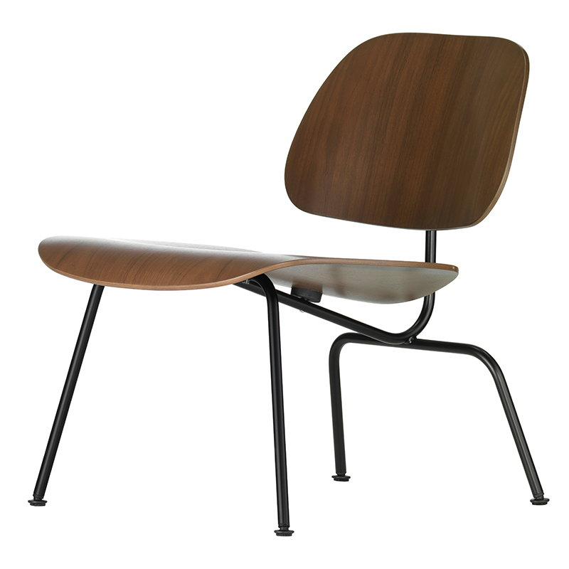 Vitra Plywood Group LCM nojatuoli, pähkinäpuu - musta