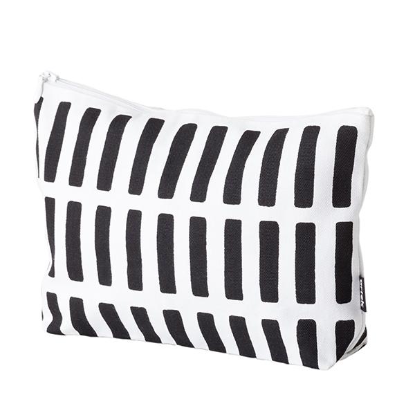 Artek Siena pouch, large, white, black