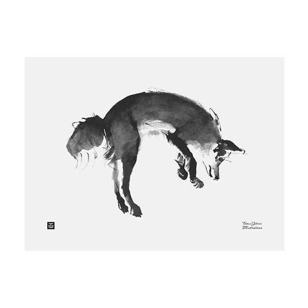 Teemu Järvi Illustrations Loikkaava kettu juliste, 40 x 30 cm
