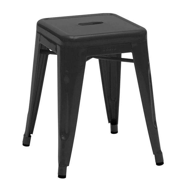 Tolix H45 stool, black
