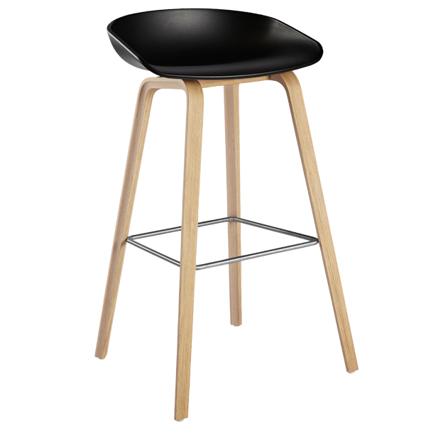 Hay About A Stool AAS32, nero - rovere