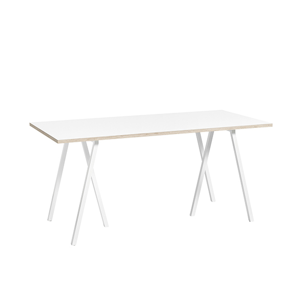Hay Loop Stand table 160 cm, white