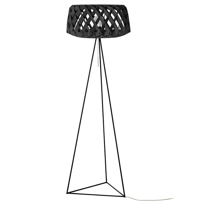 Showroom Finland Lampada da terra Pilke 60 Tripod, nera