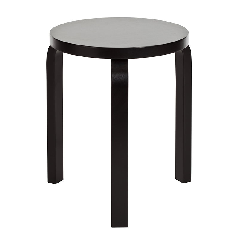 Awe Inspiring Aalto Stool 60 Lacquered Black Creativecarmelina Interior Chair Design Creativecarmelinacom