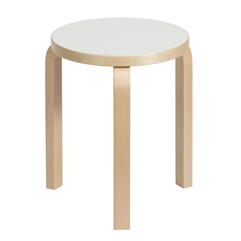 artek aalto stool 60 white laminate finnish design shop. Black Bedroom Furniture Sets. Home Design Ideas