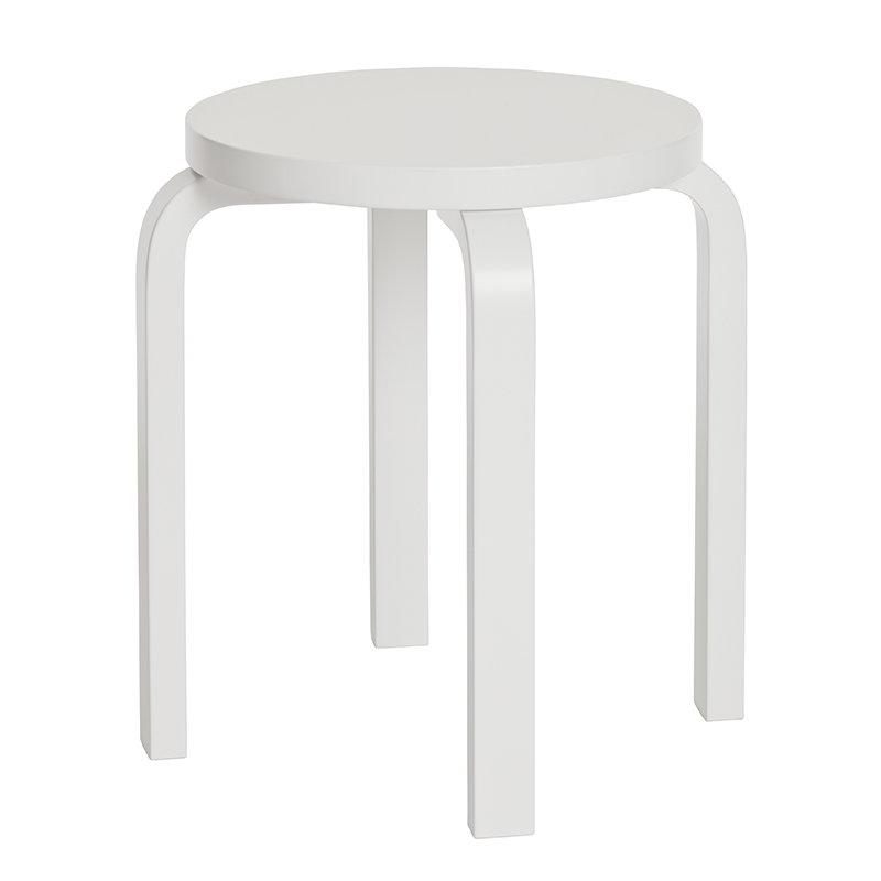 Artek Sgabello Aalto E60, bianco laccato