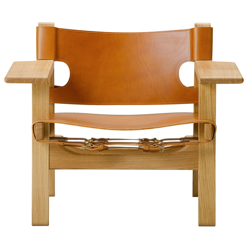 Fredericia The Spanish Chair, pelle cognac - rovere laccato