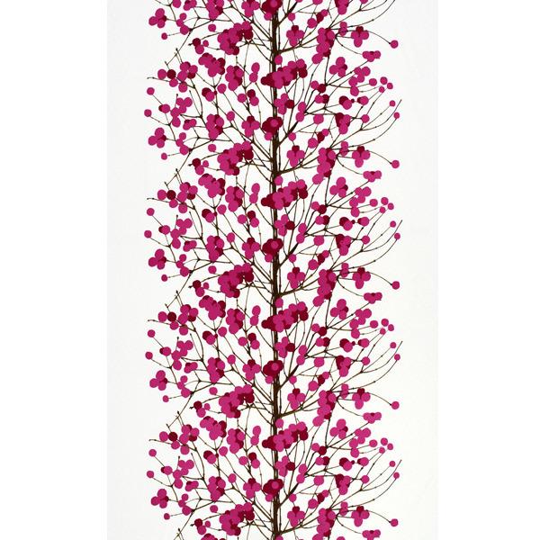 Marimekko Lumimarja kangas, pinkki