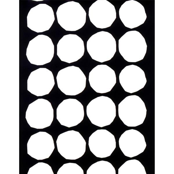Marimekko Kivet fabric, black-white