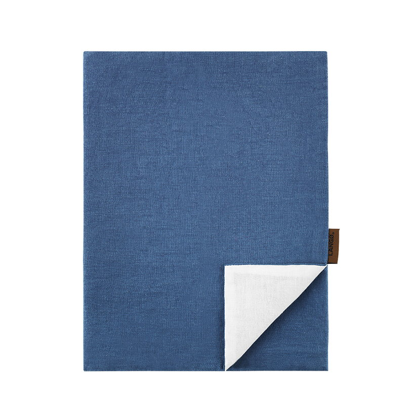 Langø Pillowcase, linen, denim-white