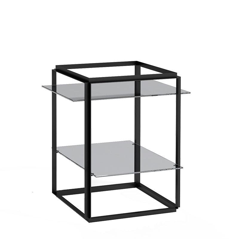 New Works Florence sivupöytä, musta - savustettu lasi