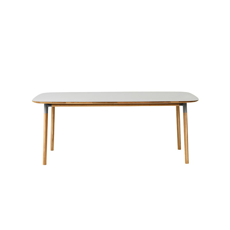 Normann Copenhagen Tavolo Form 200 X 95 Cm Grigio Rovere Finnish Design Shop