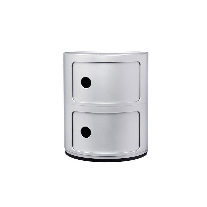 Kartell mobile contenitore componibili 2 moduli argento for Mobile contenitore