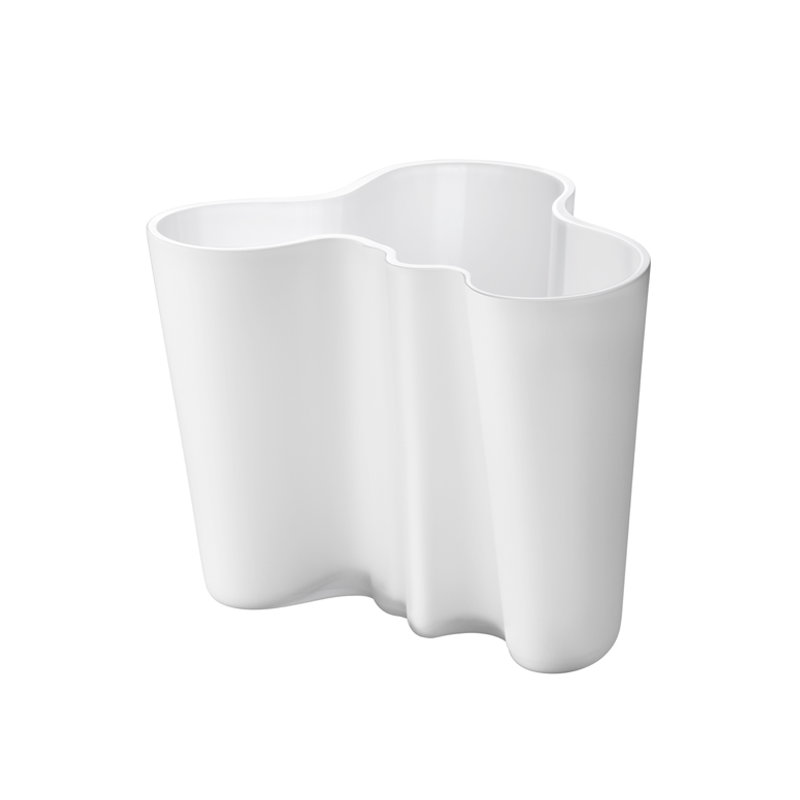 Iittala vaso aalto 160 mm bianco finnish design shop for Vaso bianco