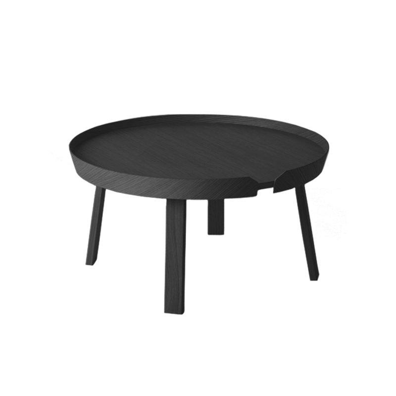 muuto around table large black finnish design shop. Black Bedroom Furniture Sets. Home Design Ideas