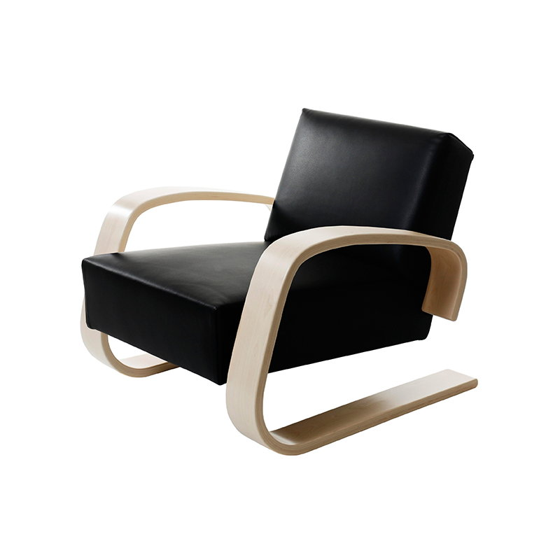 Armchair 400 � Tank� Lounge Chairs From Artek: Artek Aalto Tank Chair 400, Black Leather