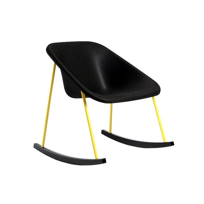 Inno sedia a dondolo kola light nero gialla finnish for Sedia design gialla