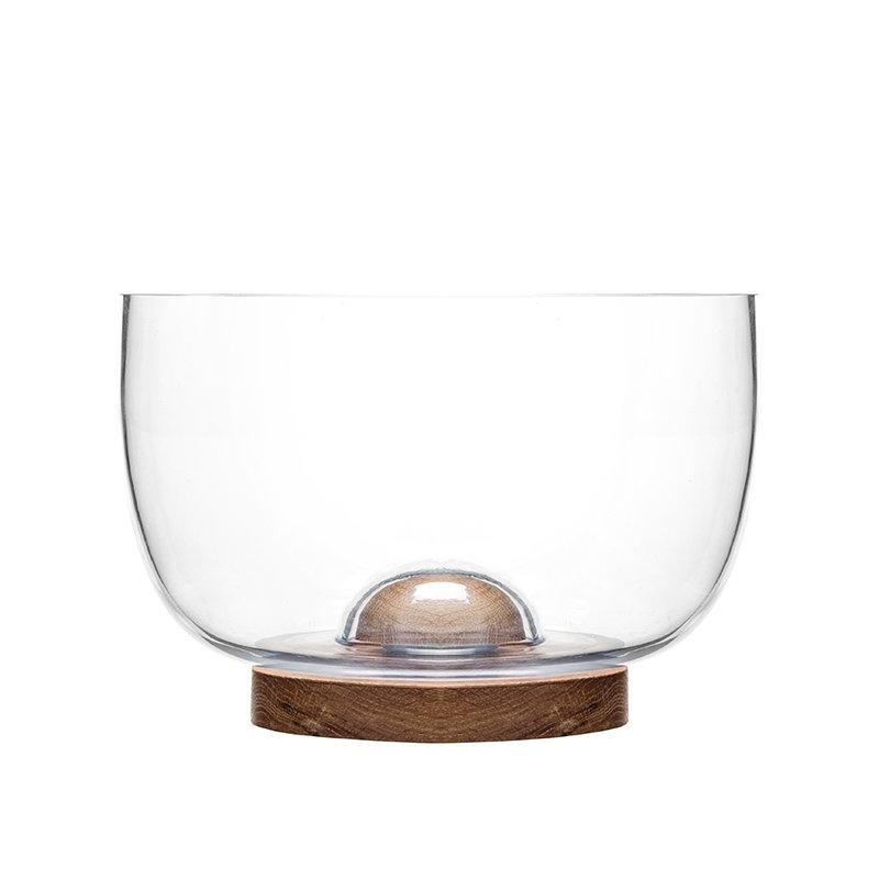 sagaform oak glass bowl finnish design shop. Black Bedroom Furniture Sets. Home Design Ideas